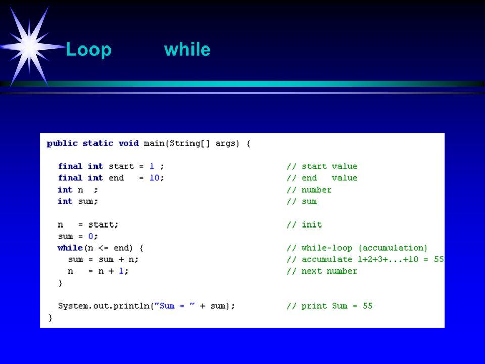 Loop while
