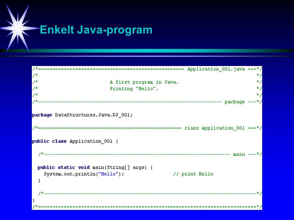 Enkelt Java-program