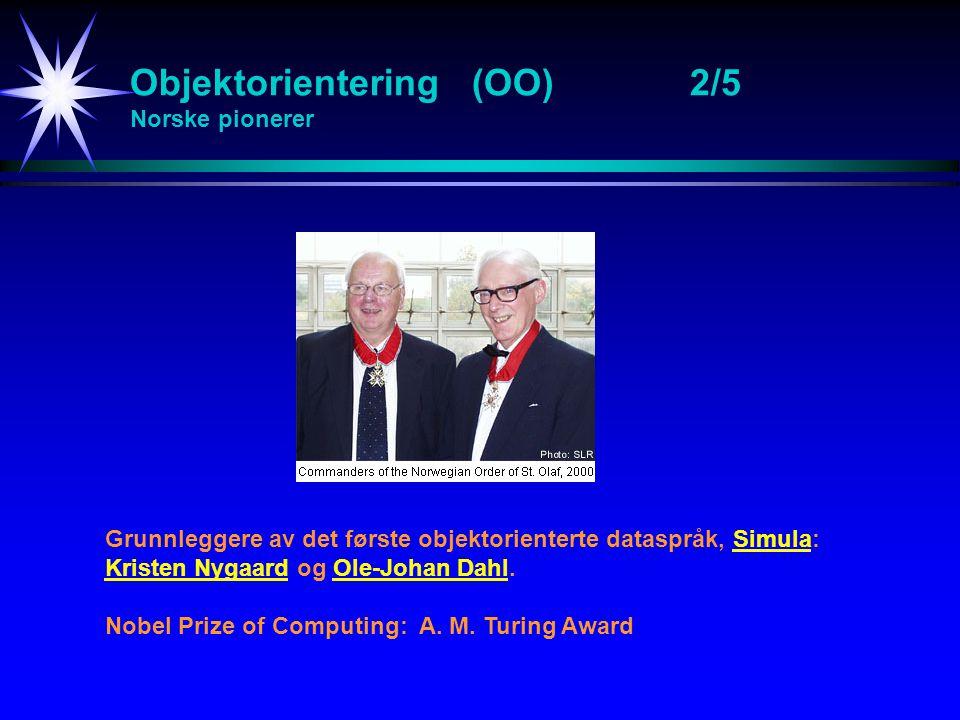 Objektorientering (OO) 2/5 Norske pionerer