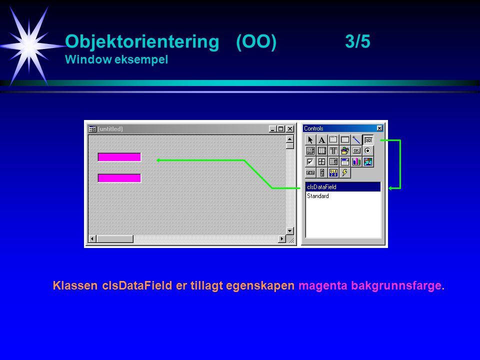 Objektorientering (OO) 3/5 Window eksempel
