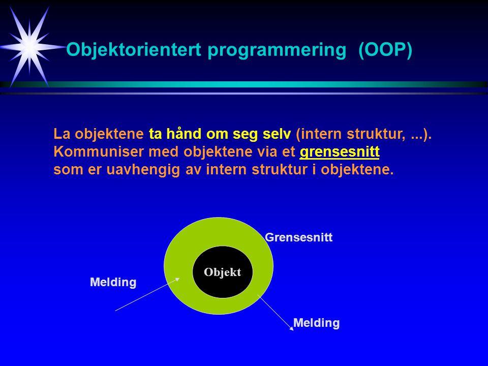 Objektorientert programmering (OOP)