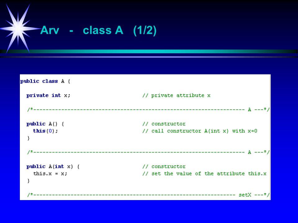 Arv - class A (1/2)