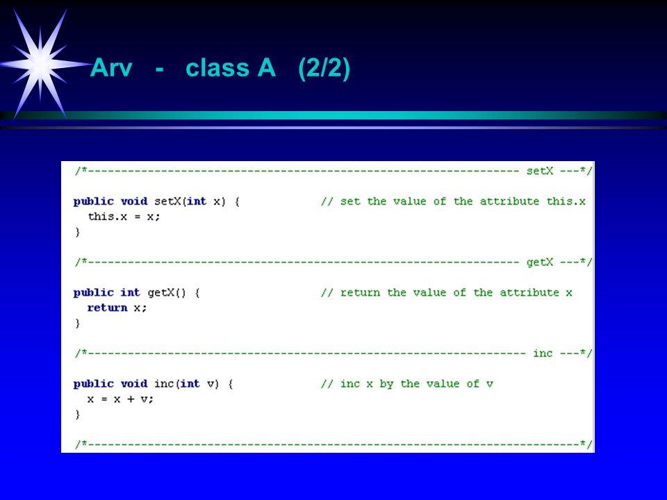 Arv - class A (2/2)