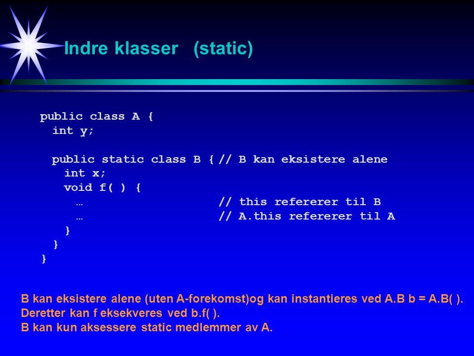 Indre klasser (static)