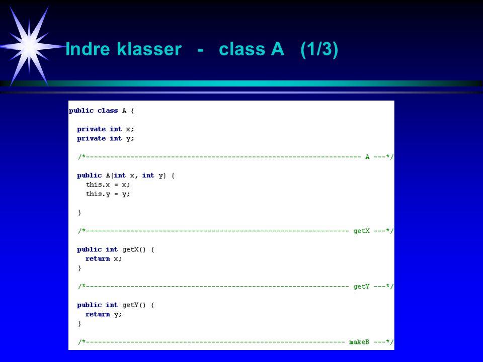 Indre klasser - class A (1/3)