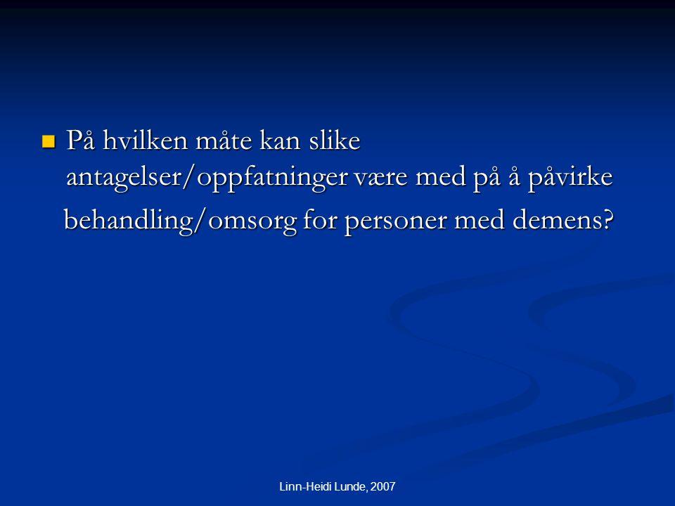 behandling/omsorg for personer med demens