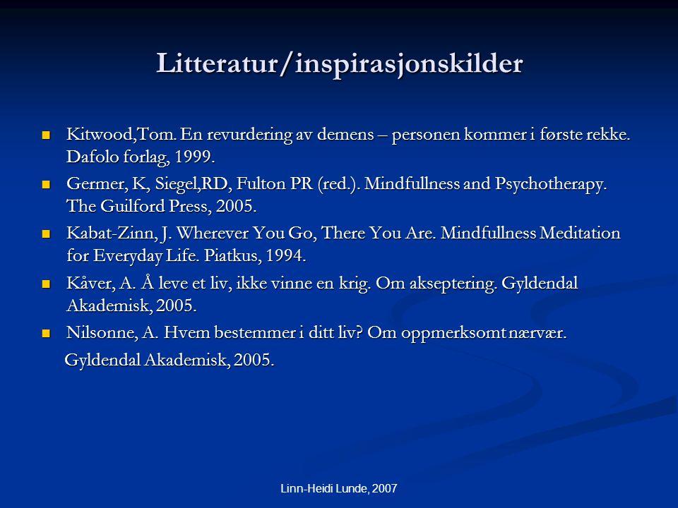 Litteratur/inspirasjonskilder