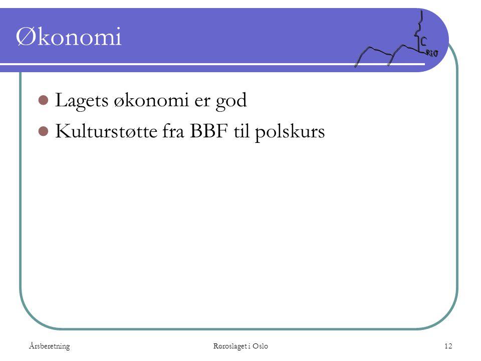 Økonomi Lagets økonomi er god Kulturstøtte fra BBF til polskurs