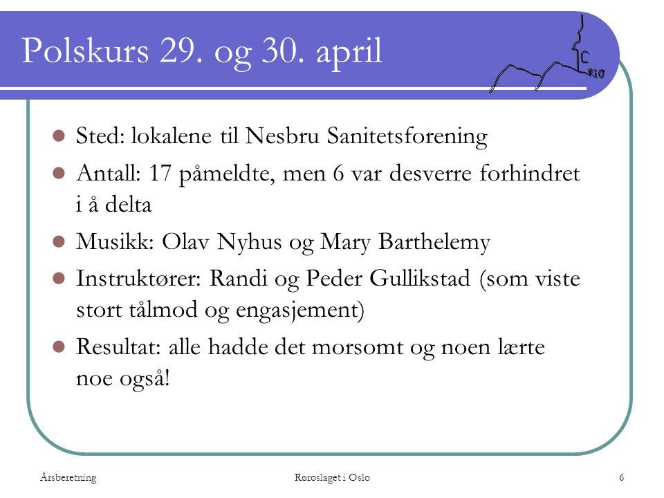 Polskurs 29. og 30. april Sted: lokalene til Nesbru Sanitetsforening