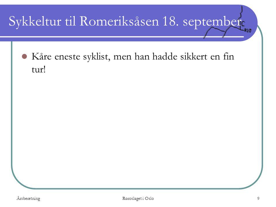 Sykkeltur til Romeriksåsen 18. september