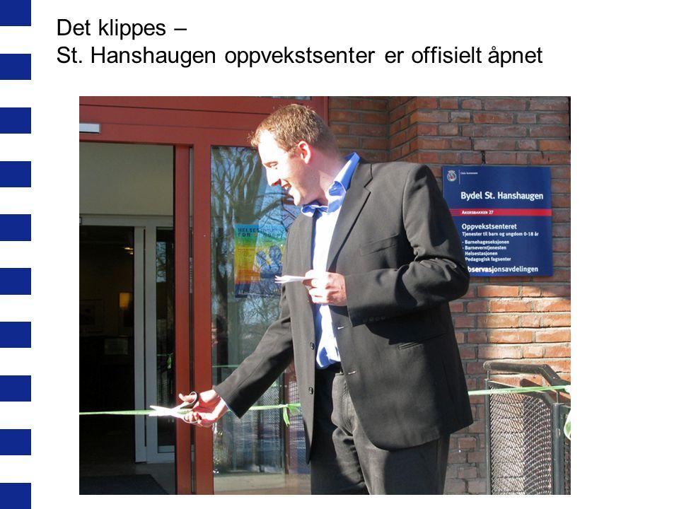 Det klippes – St. Hanshaugen oppvekstsenter er offisielt åpnet