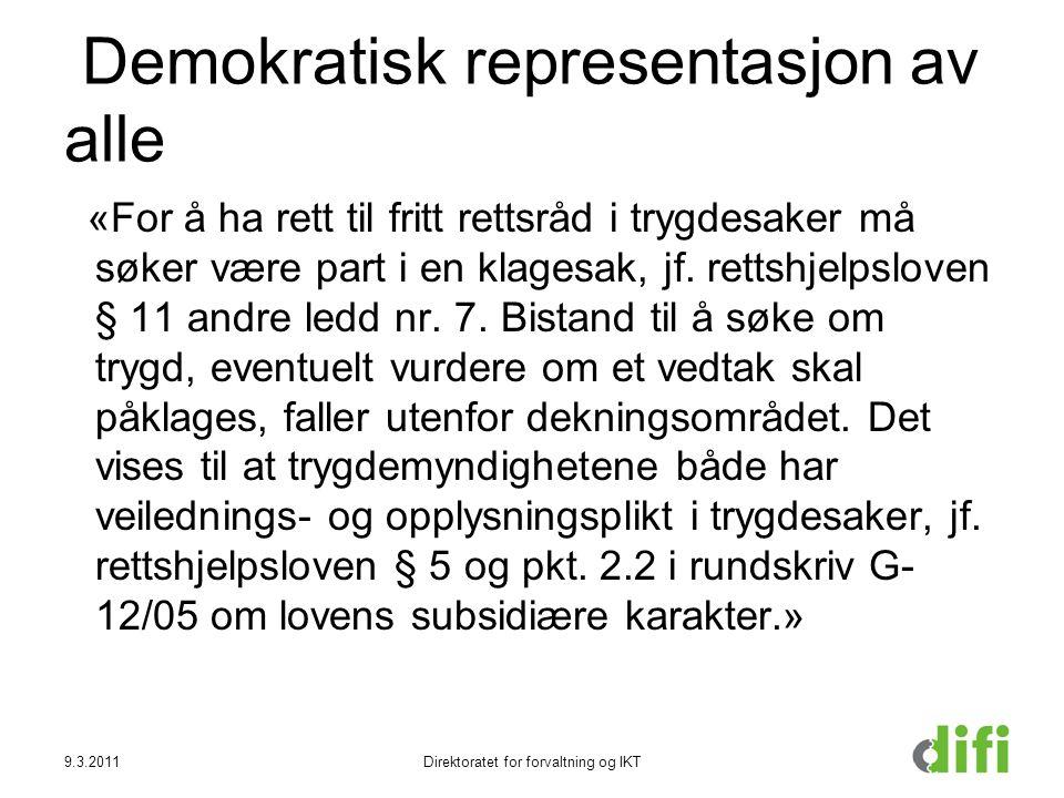 Demokratisk representasjon av alle