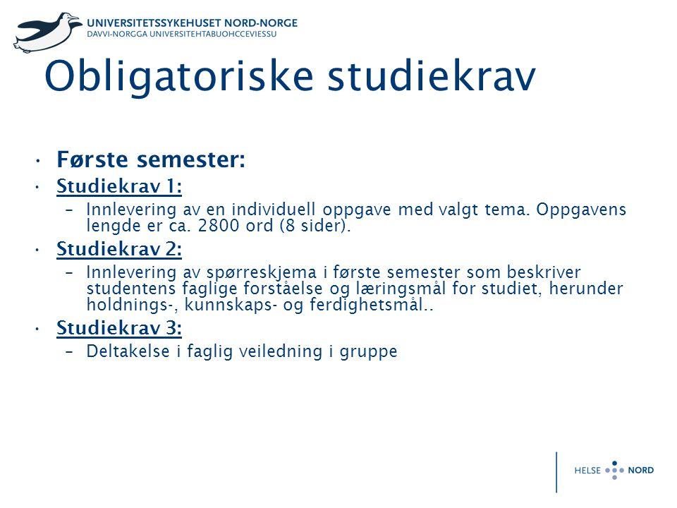 Obligatoriske studiekrav