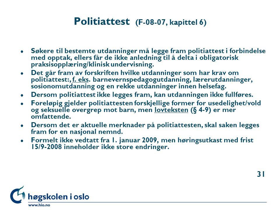 Politiattest (F-08-07, kapittel 6)
