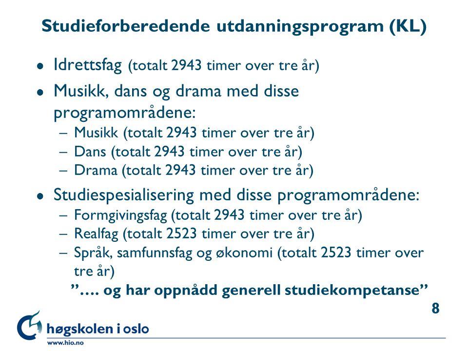 Studieforberedende utdanningsprogram (KL)