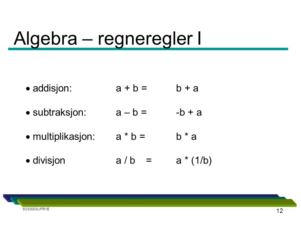 Algebra – regneregler I