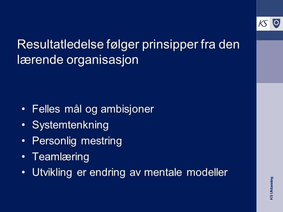 Resultatledelse følger prinsipper fra den lærende organisasjon