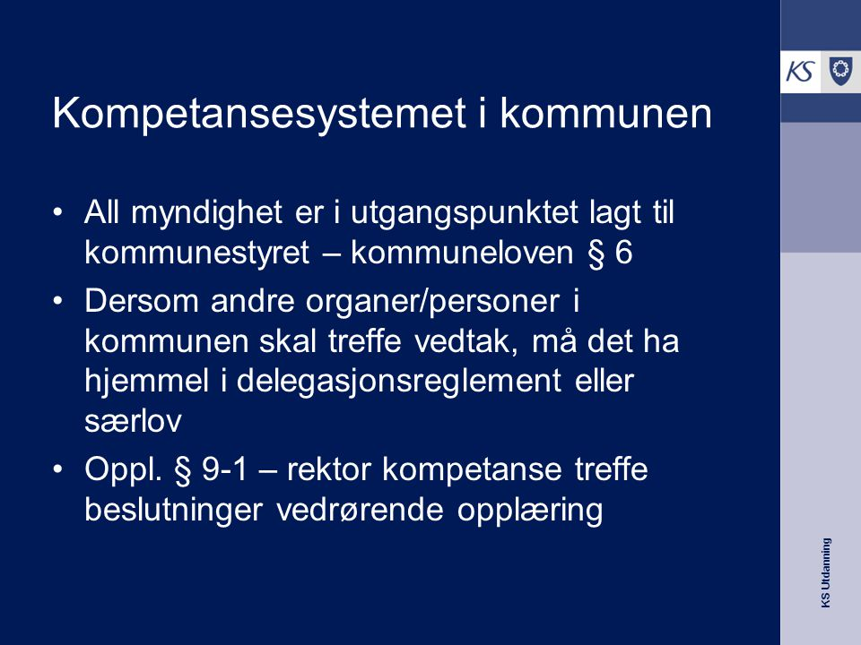 Kompetansesystemet i kommunen
