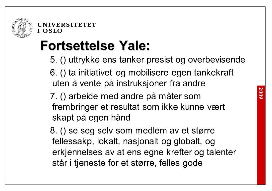 Akademisk dannelse (Yale 2003):