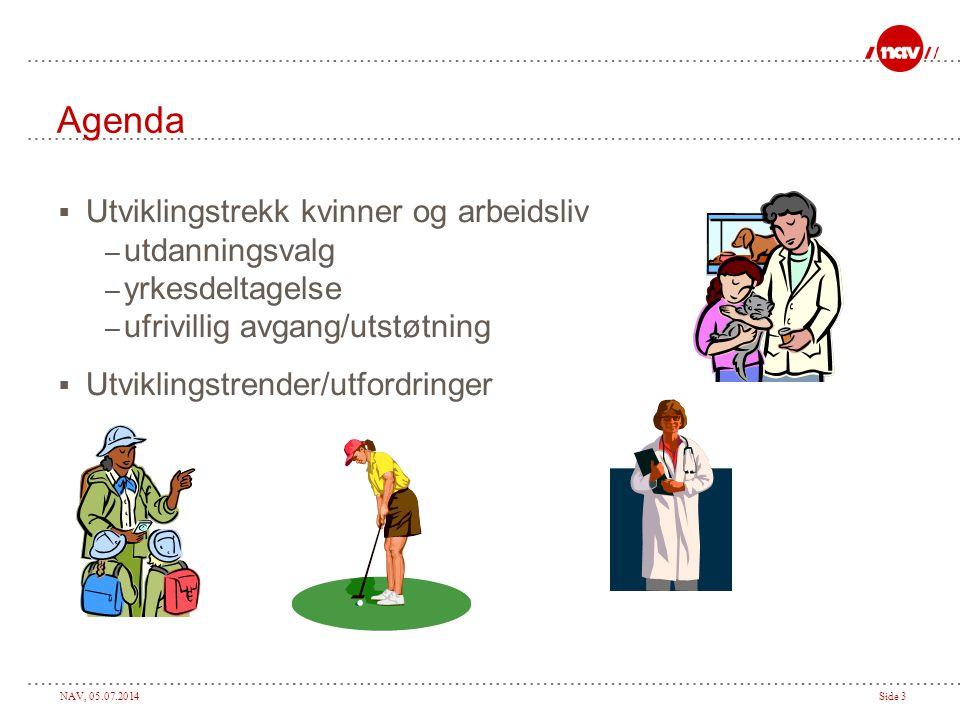 Agenda Utviklingstrekk kvinner og arbeidsliv utdanningsvalg