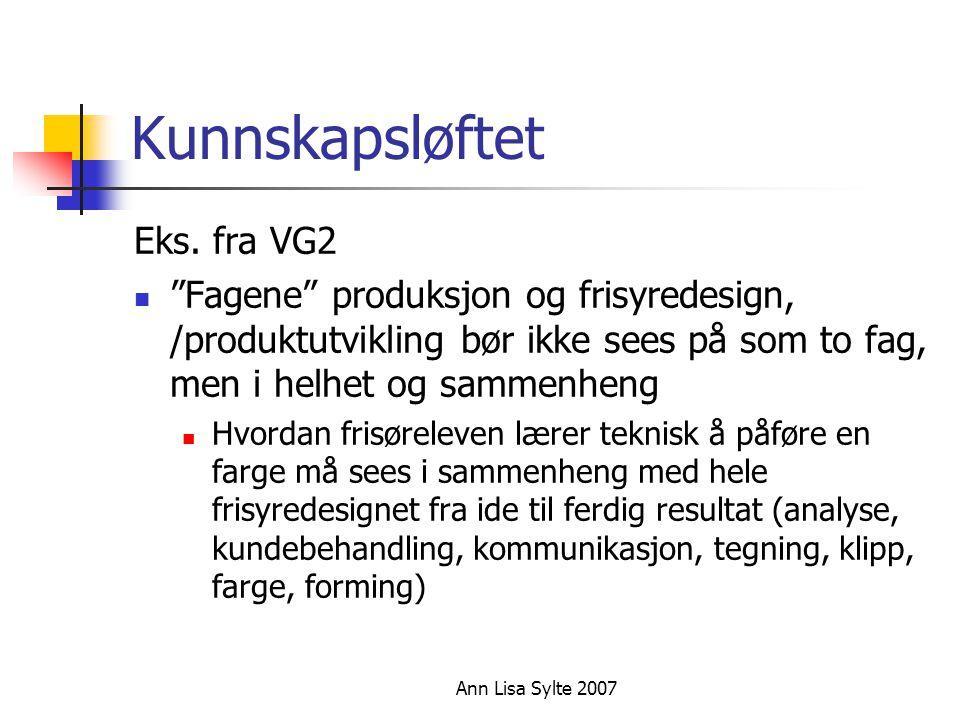 Kunnskapsløftet Eks. fra VG2