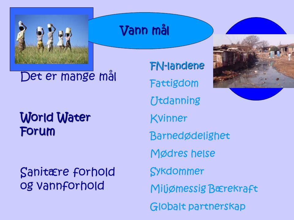 Sanitære forhold og vannforhold