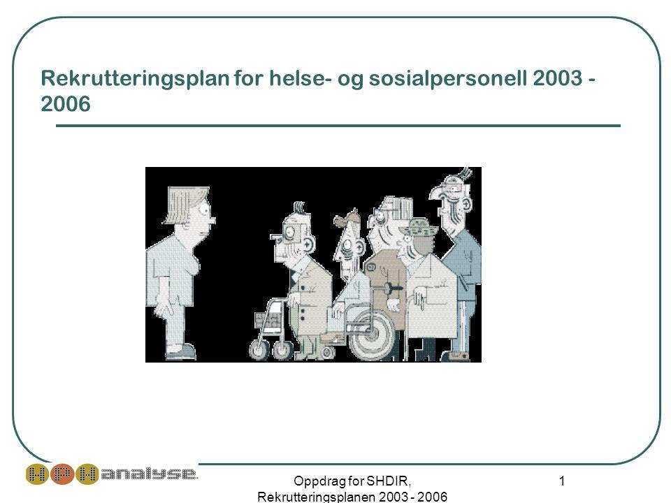 Rekrutteringsplan for helse- og sosialpersonell 2003 - 2006