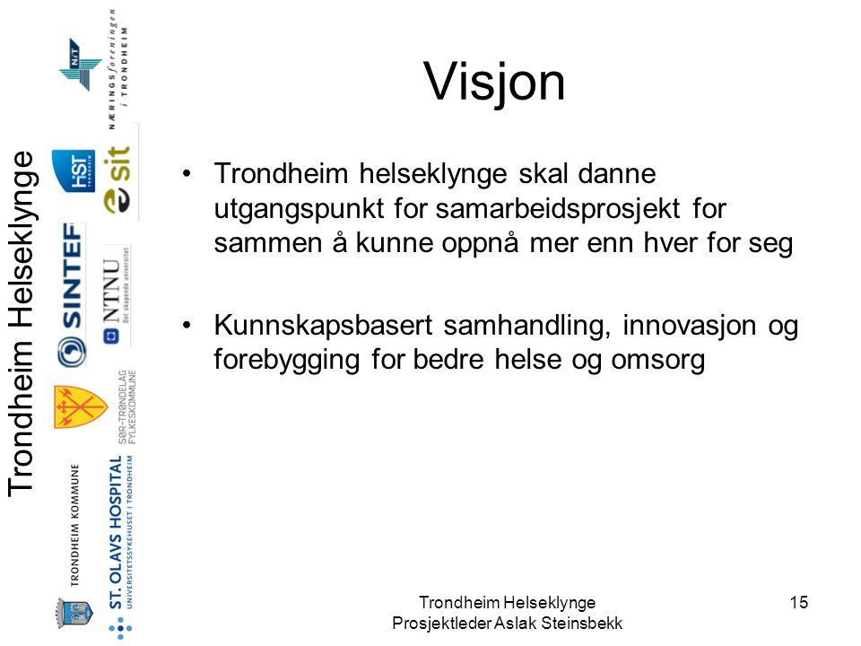 Visjon Trondheim helseklynge skal danne utgangspunkt for samarbeidsprosjekt for sammen å kunne oppnå mer enn hver for seg.