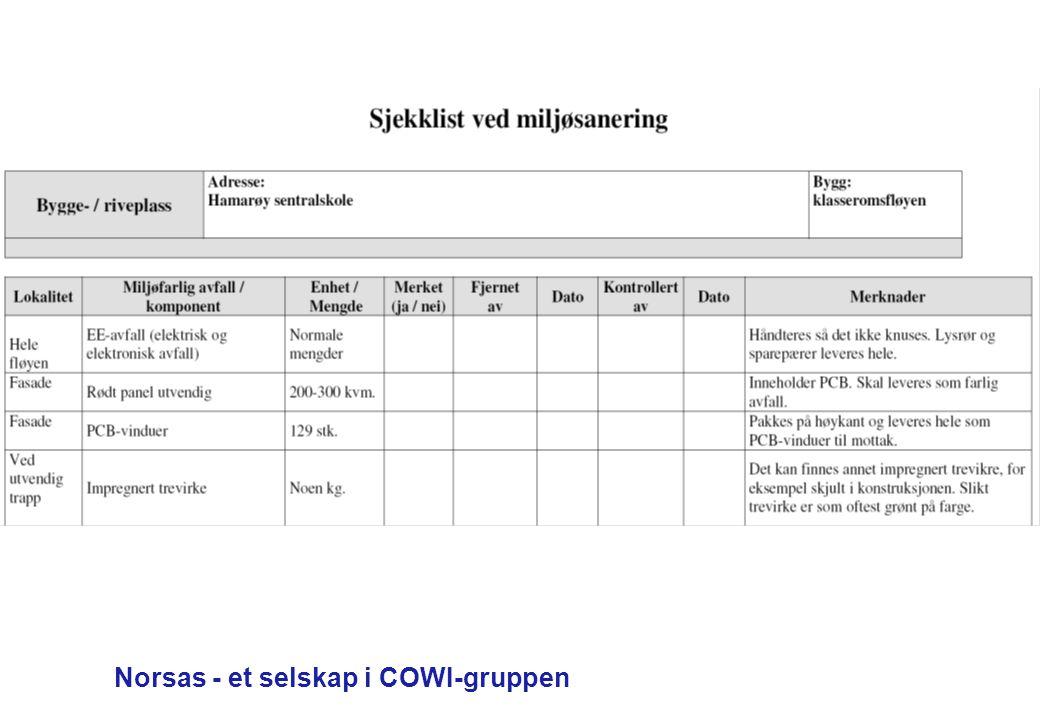 Norsas - et selskap i COWI-gruppen