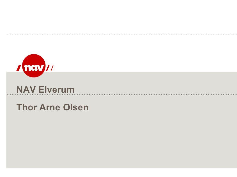 NAV Elverum Thor Arne Olsen