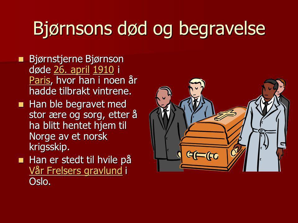 Bjørnsons død og begravelse
