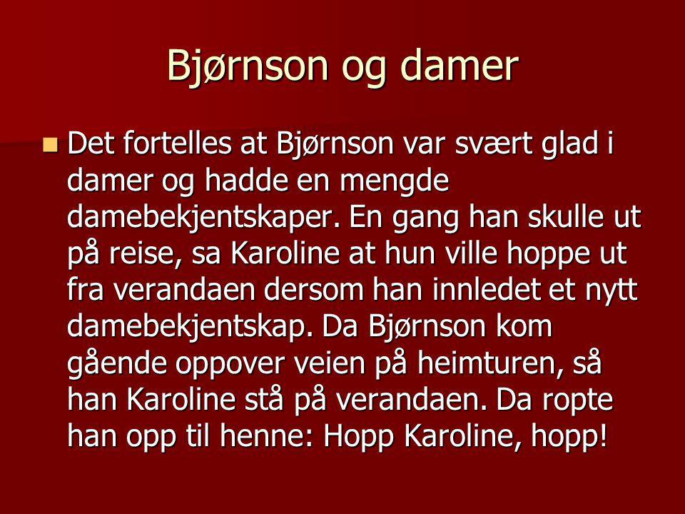 Bjørnson og damer