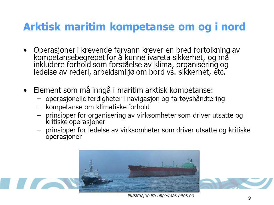 Arktisk maritim kompetanse om og i nord