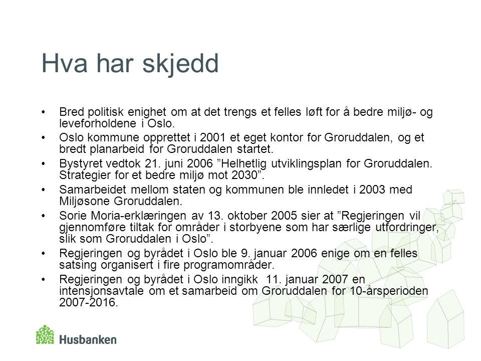 Hva har skjedd Bred politisk enighet om at det trengs et felles løft for å bedre miljø- og leveforholdene i Oslo.
