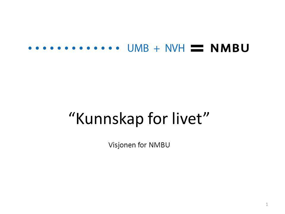 Kunnskap for livet Visjonen for NMBU