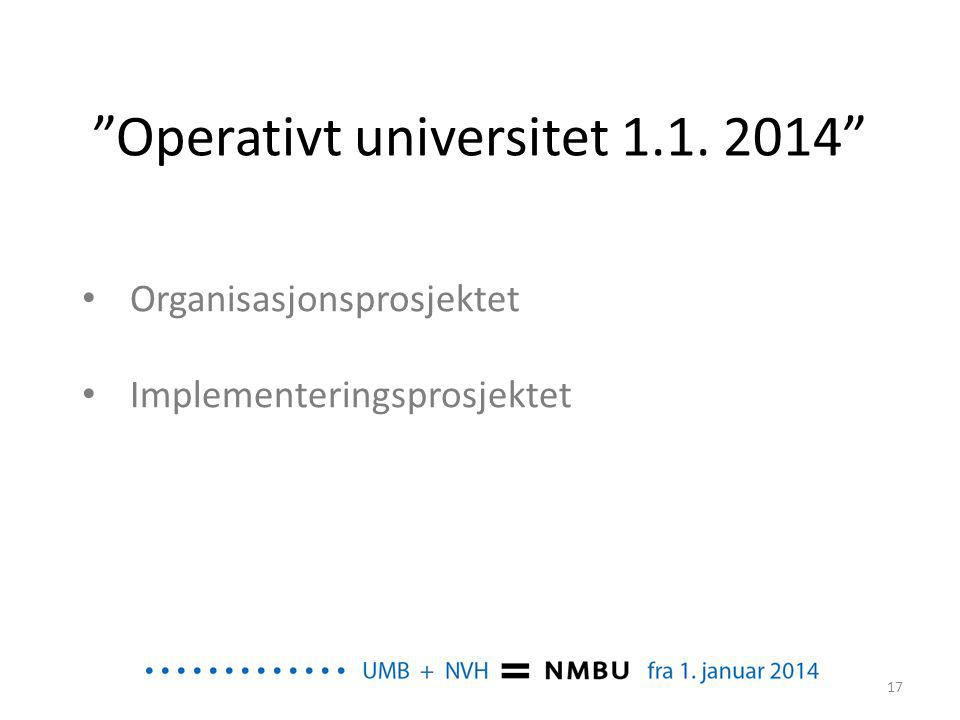 Operativt universitet 1.1. 2014