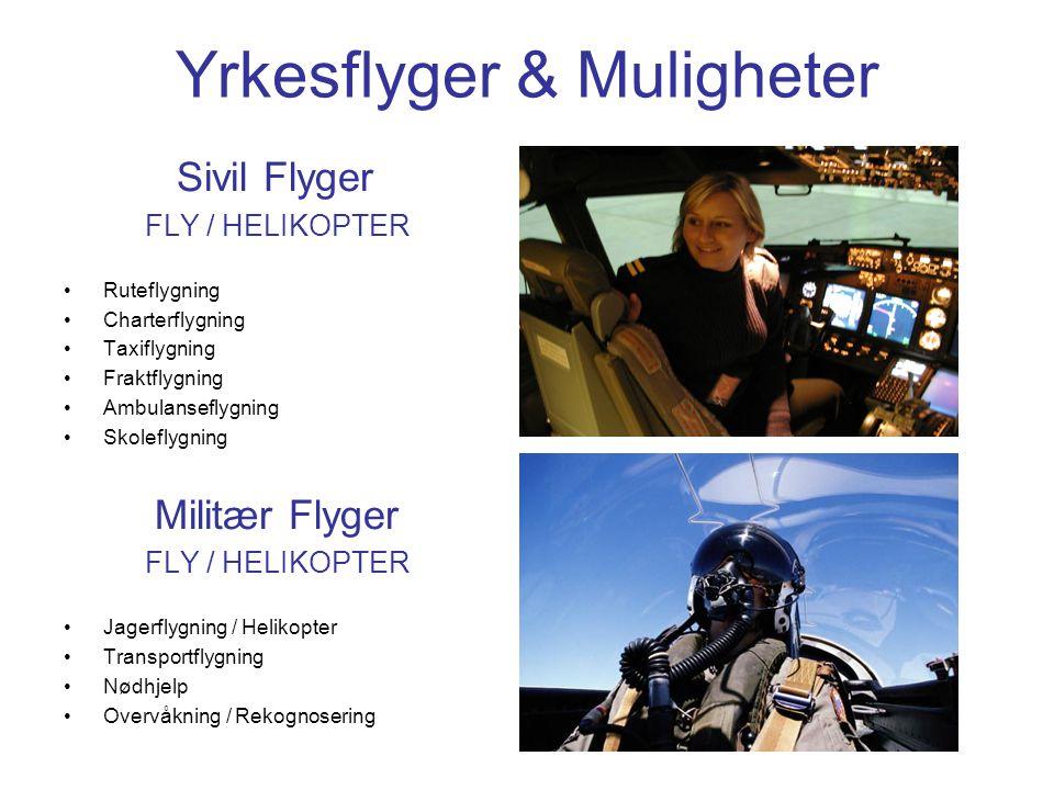 Yrkesflyger & Muligheter