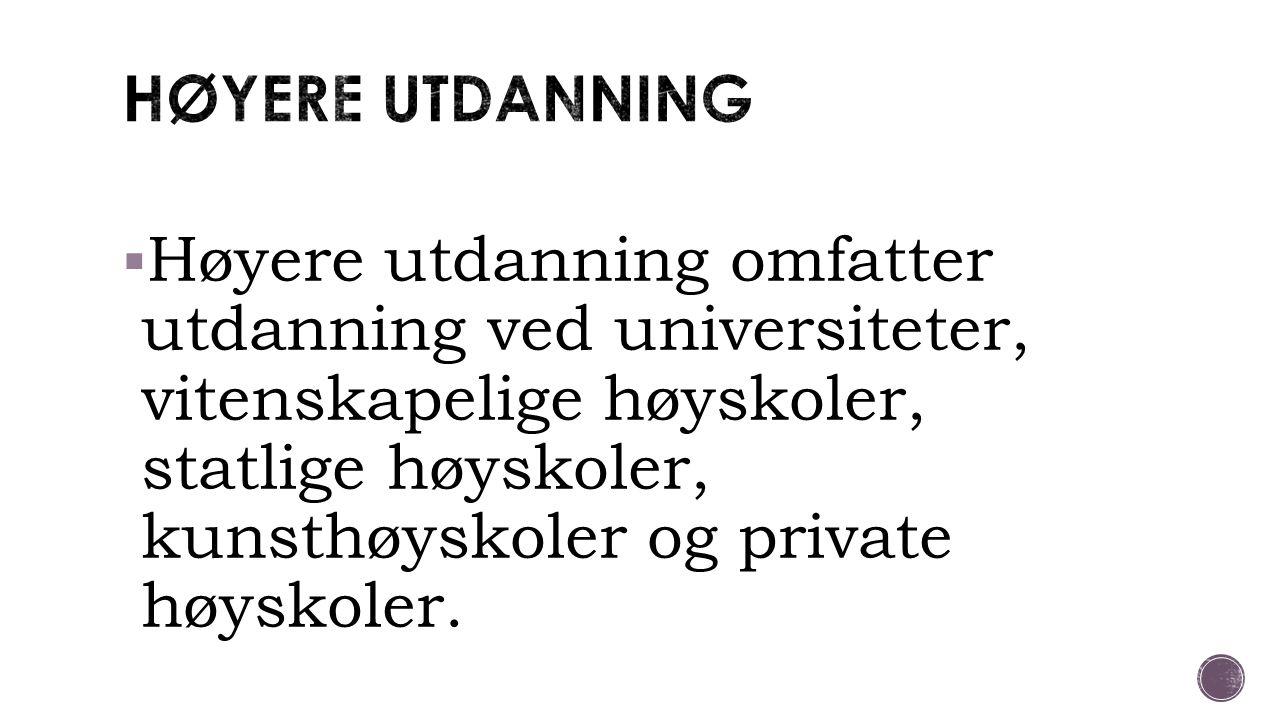 HØYERE UTDANNING