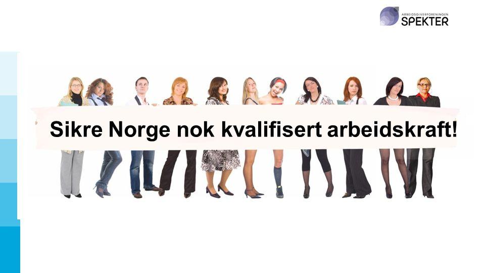 Sikre Norge nok kvalifisert arbeidskraft!
