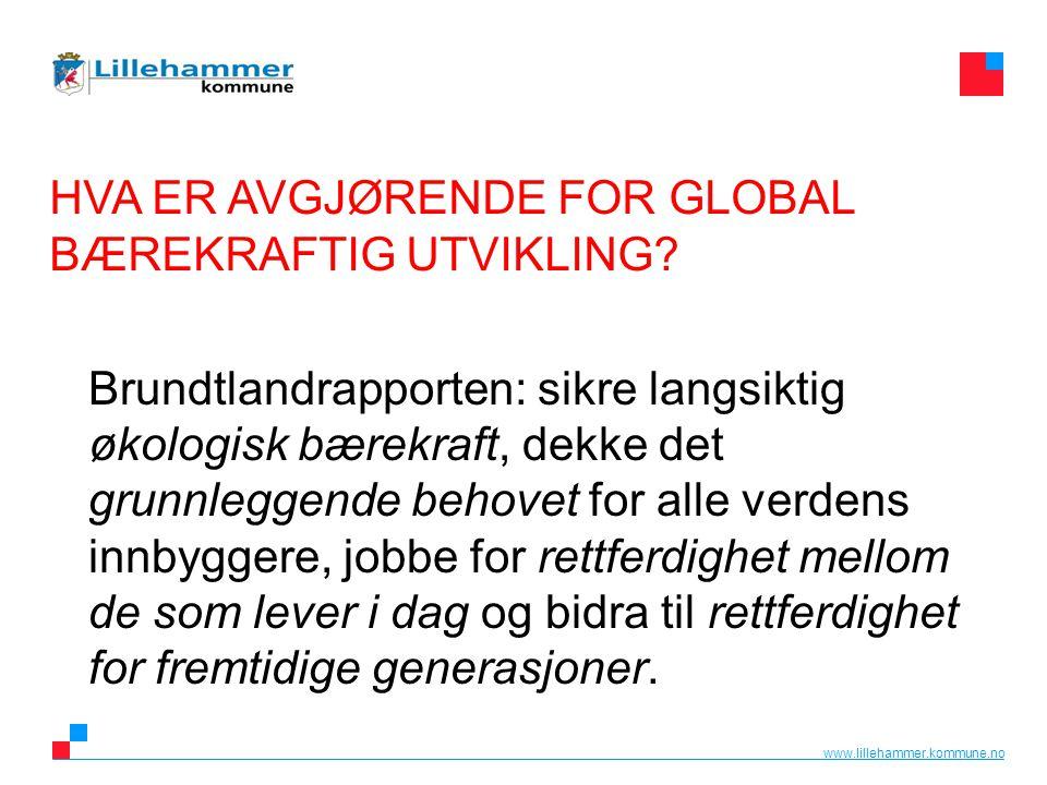 HVA ER AVGJØRENDE FOR GLOBAL BÆREKRAFTIG UTVIKLING