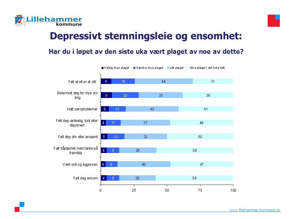 Depressivt stemningsleie og ensomhet: