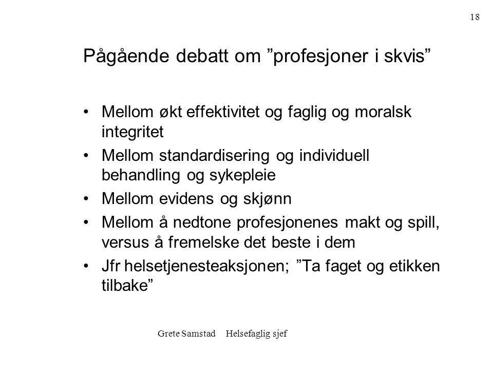 Pågående debatt om profesjoner i skvis