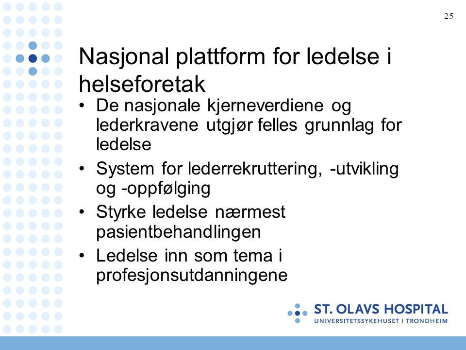 Nasjonal plattform for ledelse i helseforetak
