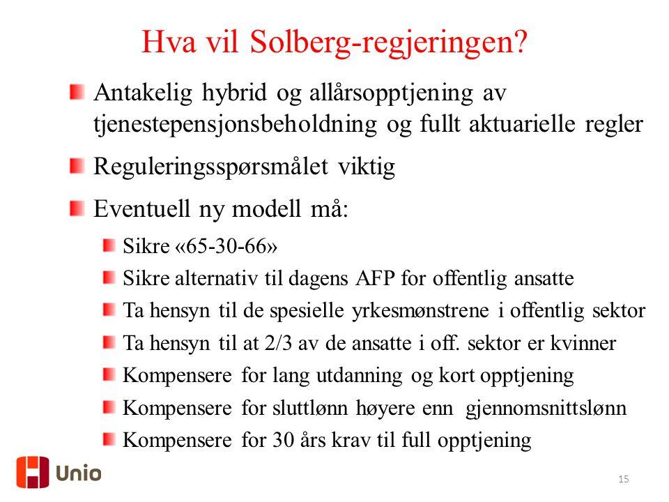 Hva vil Solberg-regjeringen