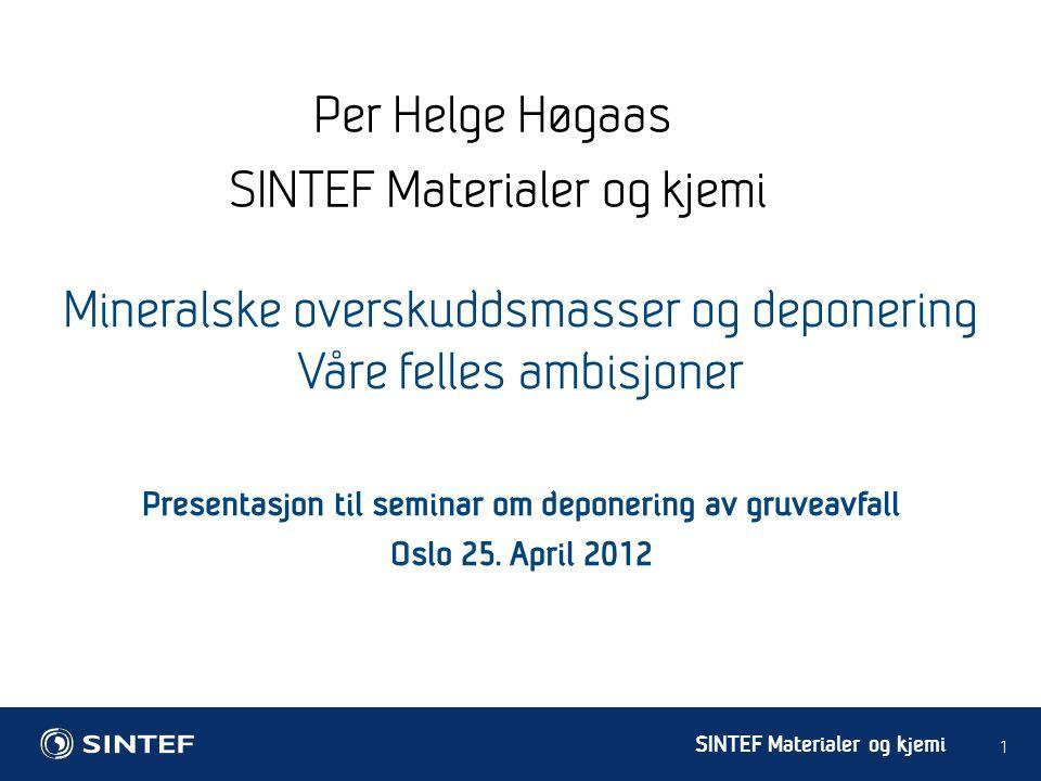 Presentasjon til seminar om deponering av gruveavfall