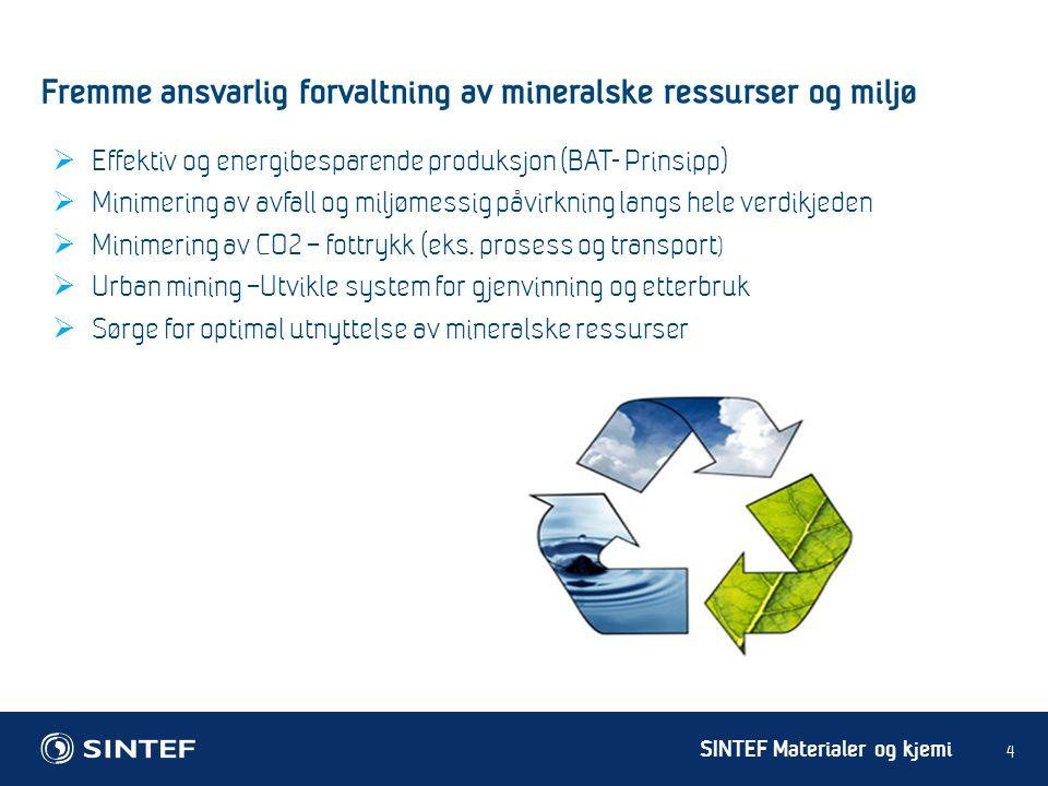 Fremme ansvarlig forvaltning av mineralske ressurser og miljø
