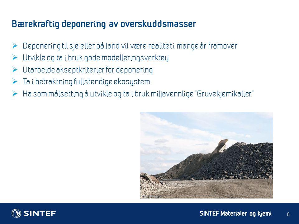 Bærekraftig deponering av overskuddsmasser