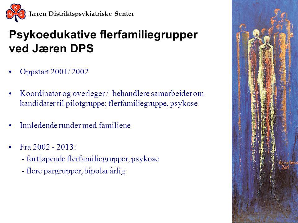 Psykoedukative flerfamiliegrupper ved Jæren DPS