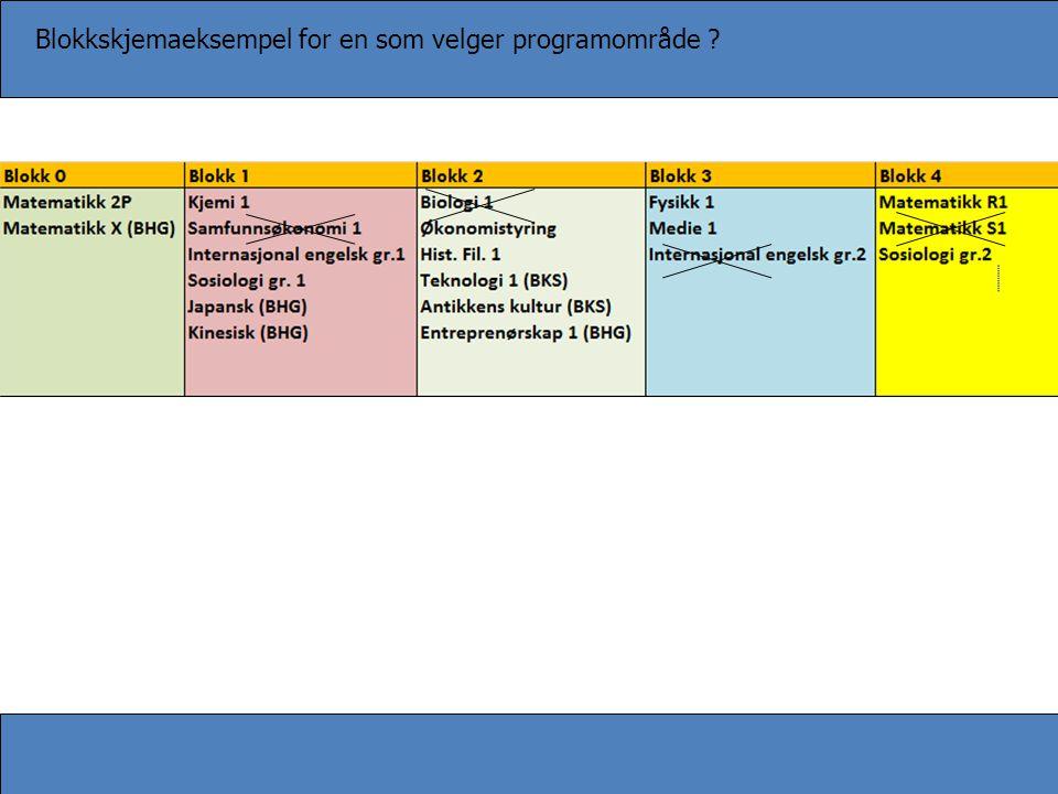 Blokkskjemaeksempel for en som velger programområde