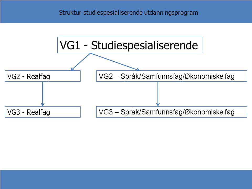 VG1 - Studiespesialiserende